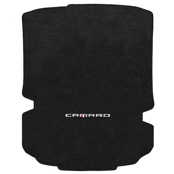 Lloyd Mat's CHEVROLET CAMARO 2016-2017 COUPE Trunk Floor Mats EBONY VELOURTEX CAMARO WORD LOGO - 620153 - (2017 2016)