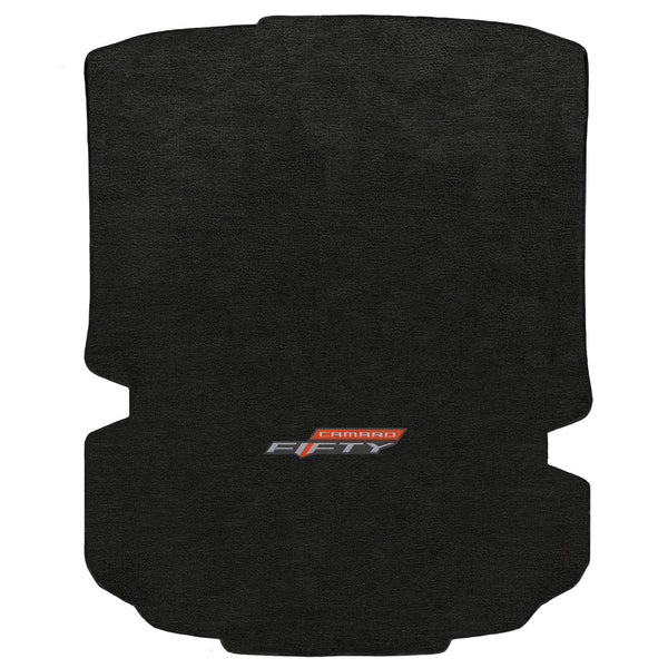 Lloyd Mat's CHEVROLET CAMARO 2017 COUPE Trunk Floor Mats EBONY VELOURTEX 50TH ANNIVERSARY LOGO - 620189 - (2017)