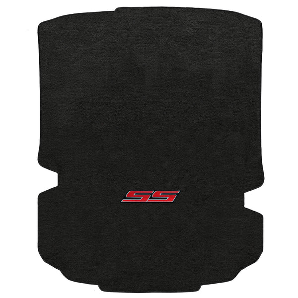 Lloyd Mat's CHEVROLET CAMARO 2016-2017 COUPE Trunk Floor Mats EBONY VELOURTEX SS RED LOGO - 620192 - (2017 2016)