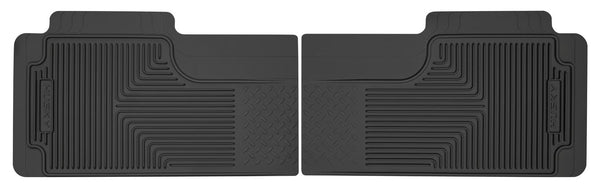 Husky Liners Heavy Duty 2nd Or 3rd Seat Rear Floor Mats for 1980-1986 Chevrolet K10 Suburban - 52011 [1986 1985 1984 1983 1982 1981 1980]