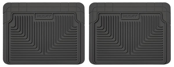 Husky Liners Heavy Duty 2nd Or 3rd Seat Rear Floor Mats for 1980-2002 Pontiac Firebird - 52021 [2002 2001 2000 1999 1998 1997 1996 1995 1994 1993 1992 1991 1990 1989 1988 1987 1986 1985 1984]