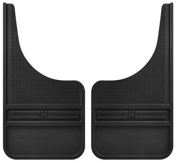 Husky Liners MudDog Mud Flaps Rubber Front - 12IN w/o Weight for 1988-1991 GMC V2500 Suburban - 55000 [1991 1990 1989 1988]
