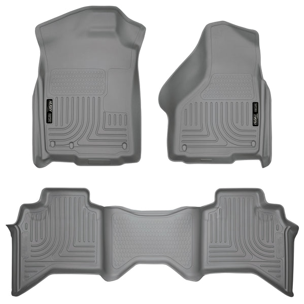 Husky Liners WeatherBeater Front & 2nd Seat Rear Floor Liners Mat for 2003-2009 Dodge Ram 3500 Crew Cab Pickup - 98032 [2009 2008 2007 2006 2005 2004 2003]