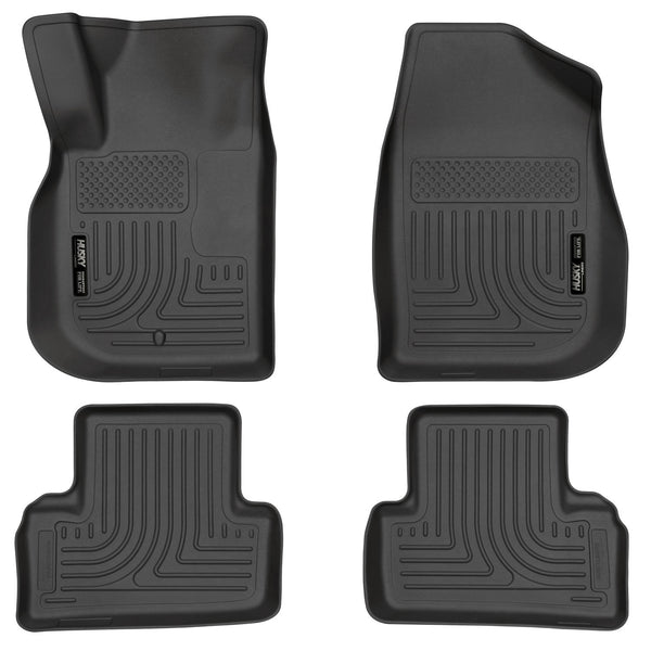 Husky Liners WeatherBeater Front & 2nd Seat Rear Floor Liners Mat for 2007-2009 Pontiac G5 - 98101 [2009 2008 2007]