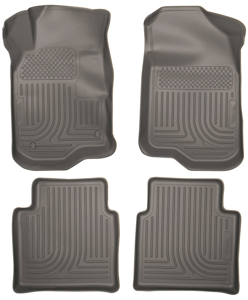Husky Liners WeatherBeater Front & 2nd Seat Rear Floor Liners Mat for 2007-2009 Saturn Aura - 98112 [2009 2008 2007]