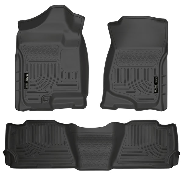 Husky Liners WeatherBeater Front & 2nd Seat Rear Floor Liners Mat for 2007-2008 Cadillac Escalade - 98251 [2008 2007]