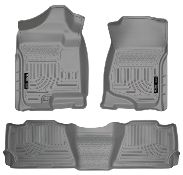 Husky Liners WeatherBeater Front & 2nd Seat Rear Floor Liners Mat for 2007-2008 Cadillac Escalade - 98252 [2008 2007]