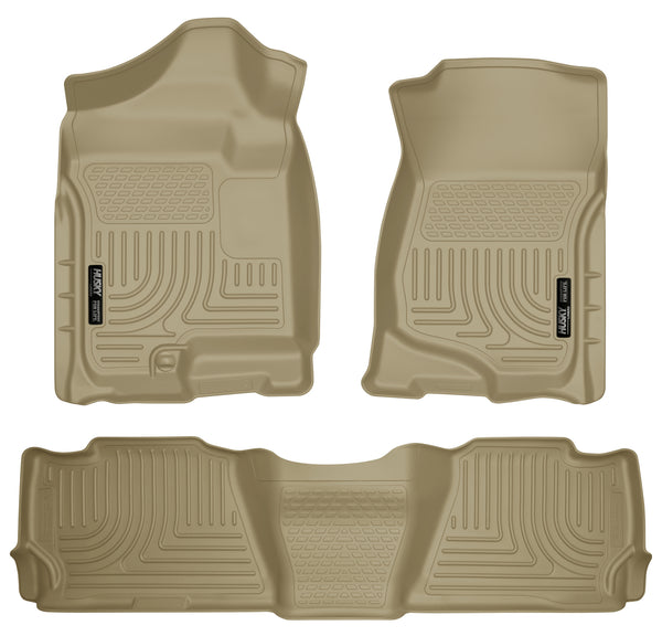 Husky Liners WeatherBeater Front & 2nd Seat Rear Floor Liners Mat for 2007-2008 Cadillac Escalade - 98253 [2008 2007]