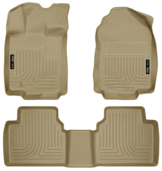 Husky Liners WeatherBeater Front & 2nd Seat Rear Floor Liners Mat for 2006-2006 Lincoln Zephyr FWD - 98363 [2006]