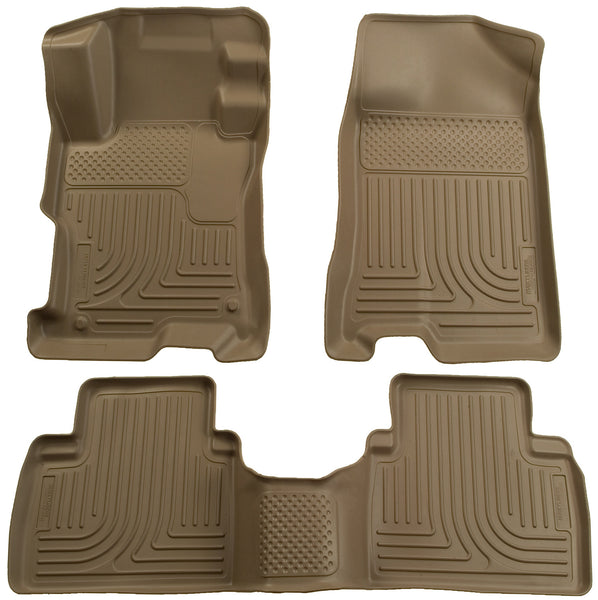 Husky Liners WeatherBeater Front & 2nd Seat Rear Floor Liners Mat for 2006-2011 Honda Civic - 98413 [2011 2010 2009 2008 2007 2006]