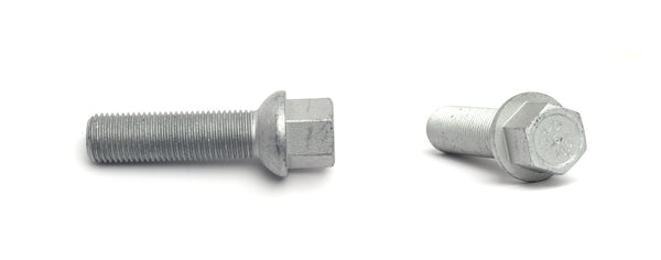 H&R Wheel Bolt for 8mm Wheel Spacer - 1982-1989 Volkswagen Scirocco 8V - Silver Ball - 1253503 - (1989 1988 1987 1986 1985 1984 1983 1982)