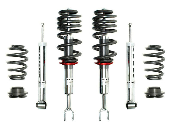 Koni 1150 Threaded Suspension Kit 1999-2005 Volkswagen Jetta 2.0, 1.8T, TDI, VR6 excl. Wagon & AWD - Front and Rear Kit Coilover and Spring Kit - 1150 5083 - (2005 2004 2003 2002 2001 2000 1999)