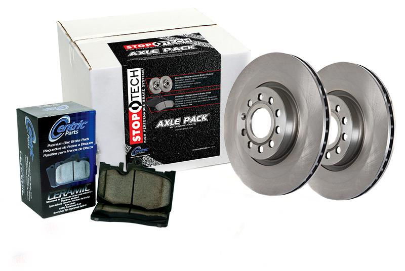 StopTech Front And Rear Axle Pack Select Brake Rotors And Brake Pads - Acura tl brake pads