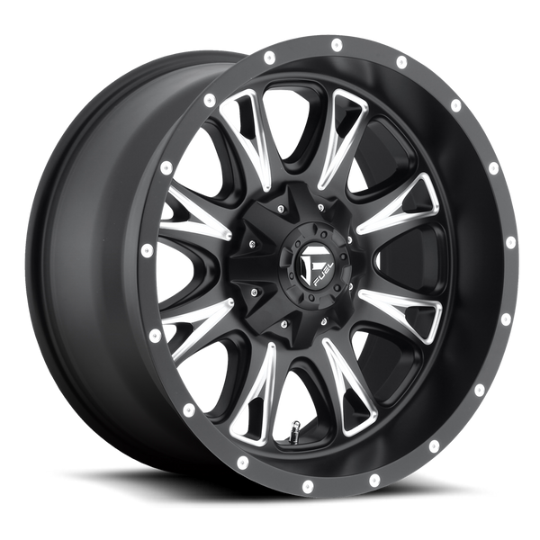 "FUEL D513 Black w/ Milled Wheels for 2007-2018 JEEP WRANGLER - 17x9 -12 mm - 17"" - (2018 2017 2016 2015 2014 2013 2012 2011 2010 2009 2008 2007)"