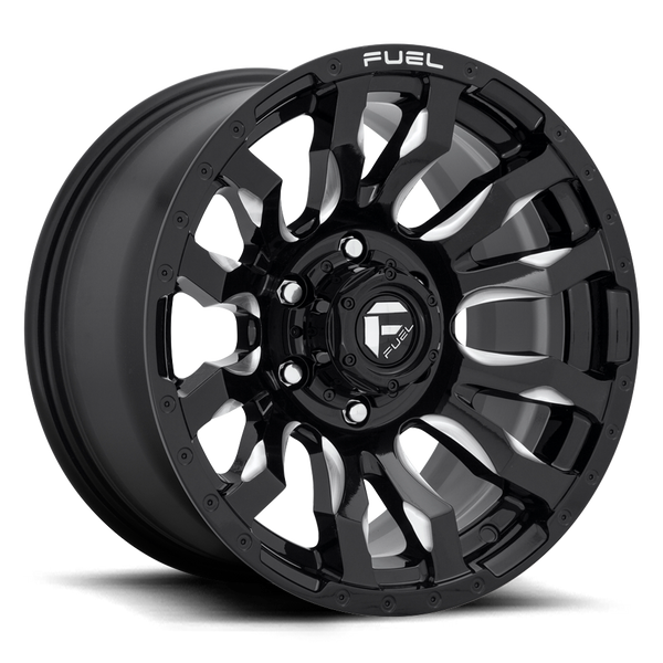 "FUEL D673 Black w/ Milled Wheels for 2007-2018 JEEP WRANGLER - 17x9 -12 mm - 17"" - (2018 2017 2016 2015 2014 2013 2012 2011 2010 2009 2008 2007)"