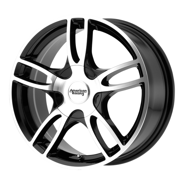 "AMERICAN RACING ESTRELLA 2 Gloss Black Machined Wheels for 2016-2018 FIAT 500X - 16"" x 7"" 40 mm 16"" - (2018 2017 2016)"