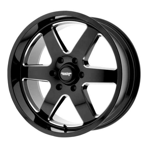 "AMERICAN RACING PATROL Gloss Black Milled Wheels for 1993-1996 FORD F-250 - 20"" x 9"" 12 mm 20"" - (1996 1995 1994 1993)"
