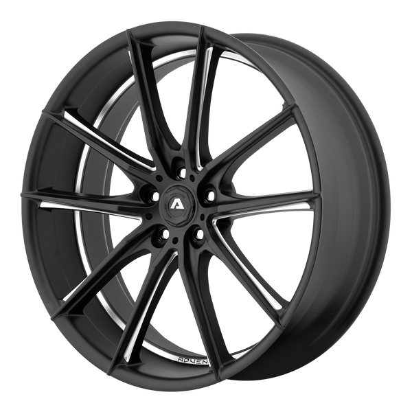 "ADVENTUS AVX-10 Matte Black Milled Wheels for 2002-2005 BMW 745I - 22"" x 9"" 15 mm 22"" - (2005 2004 2003 2002)"
