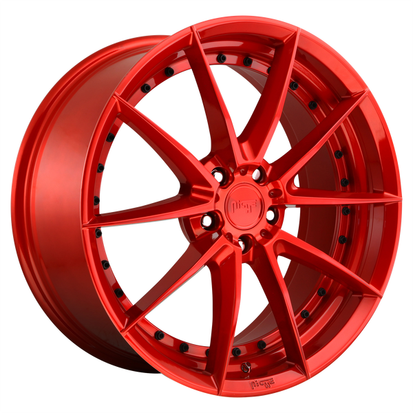 "NICHE SECTOR CANDY RED Wheels for 1995-2004 AUDI A6 QUATTRO - 19x8.5 42 mm 19"" - (2004 2003 2002 2001 2000 1999 1998 1997 1996 1995)"
