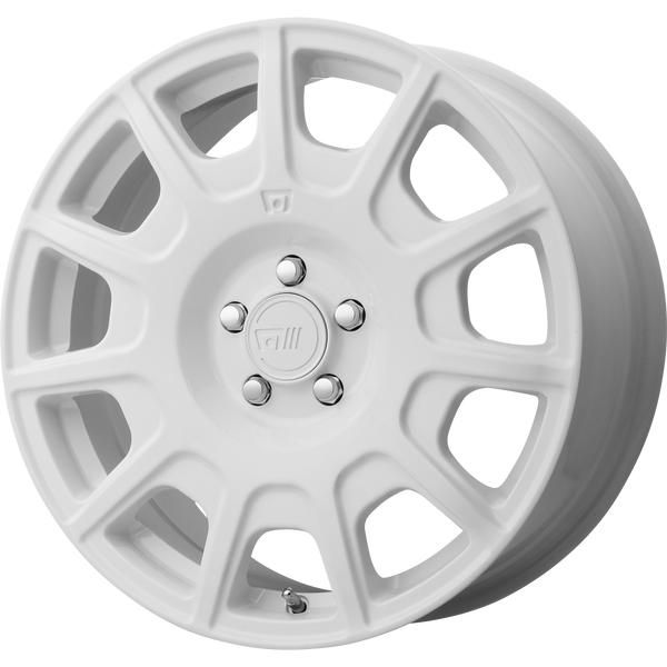 "MOTEGI MR139 White Wheels for 2009-2010 VOLKSWAGEN BEETLE - 17x7.5 40 mm 17"" - (2010 2009)"