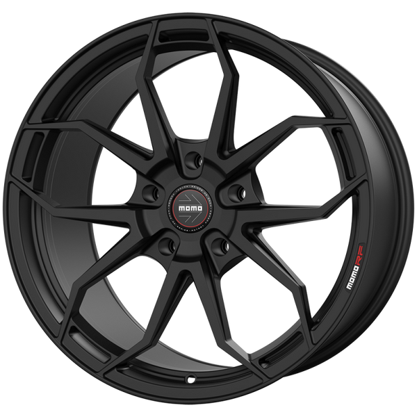 "Momo ANZIO M101 Satin Black Wheels for 2017-2020 TESLA MODEL 3 [INC PERFORMANCE] - 19x9.5 35 - 19"" - (2020 2019 2018 2017)"