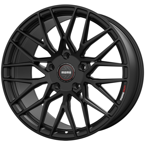 "Momo BARLETTA M105 Satin Black Wheels for 2017-2020 TESLA MODEL 3 [INC PERFORMANCE] - 19x9.5 35 - 19"" - (2020 2019 2018 2017)"
