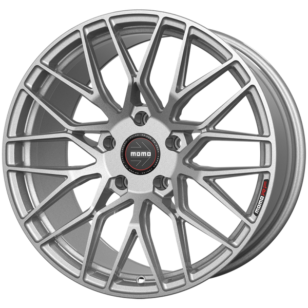 "Momo CATANIA M106 Gloss Silver Wheels for 2017-2020 TESLA MODEL 3 [INC PERFORMANCE] - 19x8.5 35 - 19"" - (2020 2019 2018 2017)"