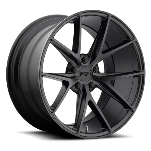 "Niche M117 Matte Black Wheels for 1989-1995 PLYMOUTH ACCLAIM - 17x8 40 mm - 17"" - (1995 1994 1993 1992 1991 1990 1989)"