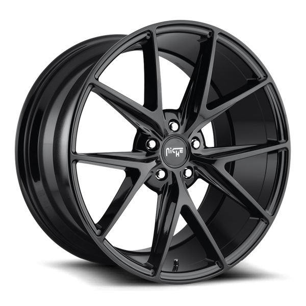 "Niche M119 Gloss Black Wheels for 2007-2016 LEXUS LS600H, LS600HL [AWD Only] - 20x9 35 mm - 20"" - (2016 2015 2014 2013 2012 2011 2010 2009 2008 2007)"