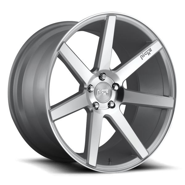 "Niche M179 Silver & Machined Wheels for 1997-2009 AUDI S4 - 19x8.5 34 mm - 19"" - (2009 2008 2007 2006 2005 2004 2003 2002 2001 2000 1999 1998 1997)"