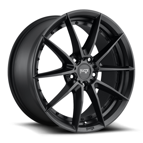 "Niche M196 Matte Black Wheels for 1995-2002 LINCOLN CONTINENTAL - 19x8.5 40 mm - 19"" - (2002 2001 2000 1999 1998 1997 1996 1995)"