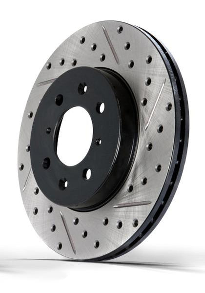 StopTech Slotted Drilled Front Pair Brake Rotors Acura - Acura tl brembo calipers