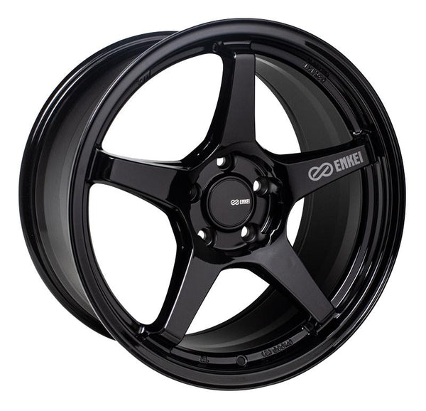 "Enkei TS-5 Gloss Black Wheels for 1984-1994 PLYMOUTH SUNDANCE - 17x8 45 mm - 17"" - (1994 1993 1992 1991 1990 1989 1988 1987 1986 1985 1984)"
