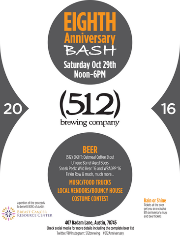 512 Brewing 8th Anniversary Party Invitation
