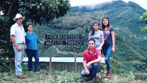 Photo caption: the Monge family in Tarrazu, Costa Rica. Photo credit: Royal Coffee.