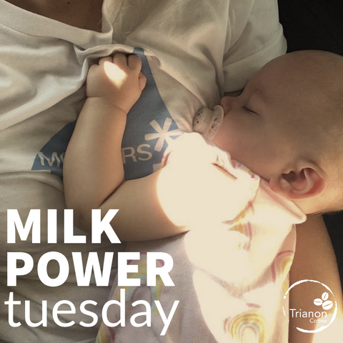 Milk Power Tuesday at Trianon Coffee supports Mother's Milk Bank of Austin