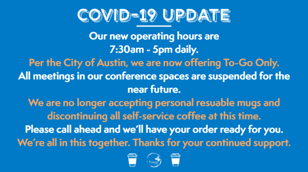 Trianon Coffee's Covid-19 Update March 2020