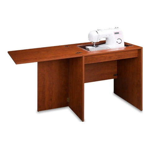 Basic Sewing Machine Desk Cabinet in Sunset Cherry