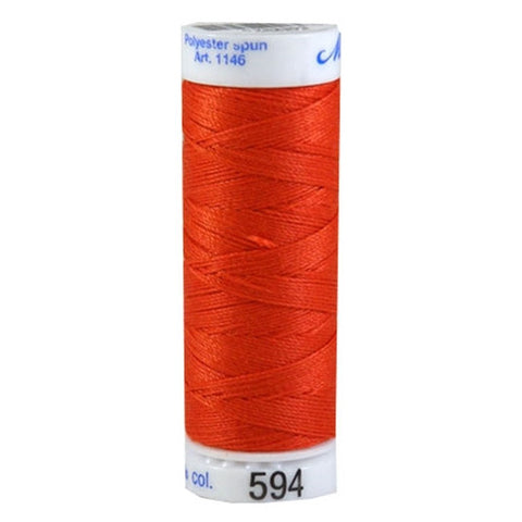 Mettler Cordonnet in Dark Orange in 547 Yard Spl