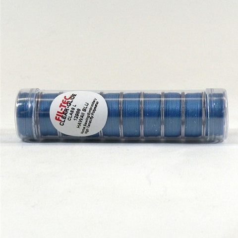 Clear-Glide Class L Poly Bobbin in Hawaii Blue Tube 1