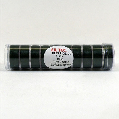 Clear-Glide Class L Poly Bobbin in Green Tube of 10