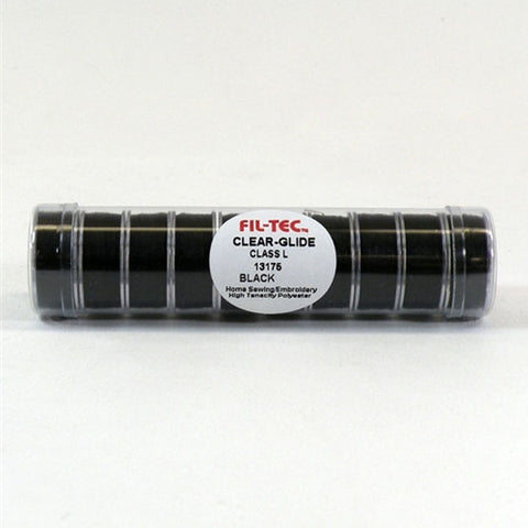 Clear-Glide Class L Poly Bobbin in Black Tube of 10
