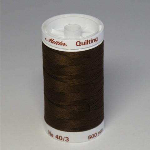 Mettler 40wt Cotton Quilting in Espresso in 500 Yard S