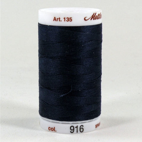 Mettler 40wt Cotton Quilting in Navy Blue in 500 Yard