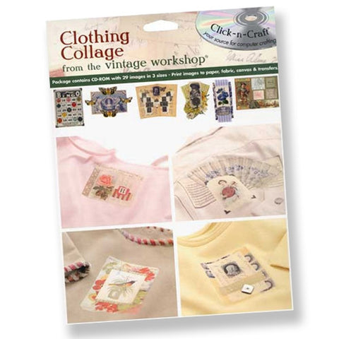 Clothing Collage Printable CD by Vintage Workshop