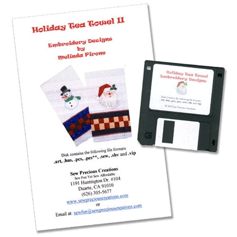 Holiday Tea Towel II Design CD by Sew Precious