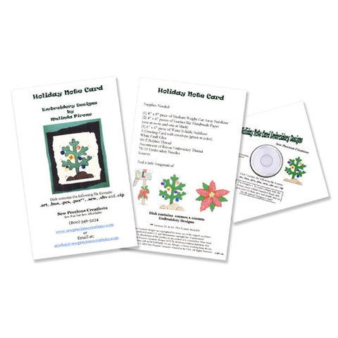 Holiday Note Card Design CD by Sew Precious