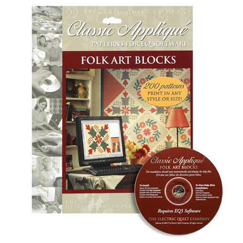 Folk Art Applique CD by Electric Quilt Co.