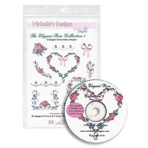Elegant Rose Collection 1 CD by Michelle's Designs