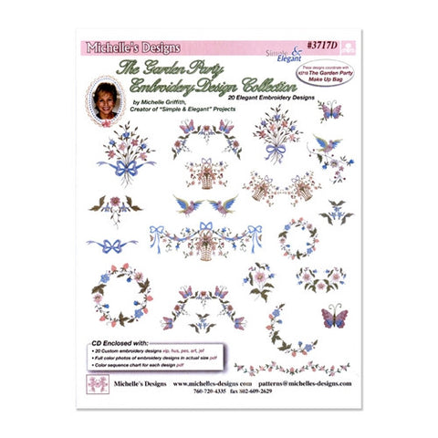 Garden Party Embroidery Designs by Michelle's Designs